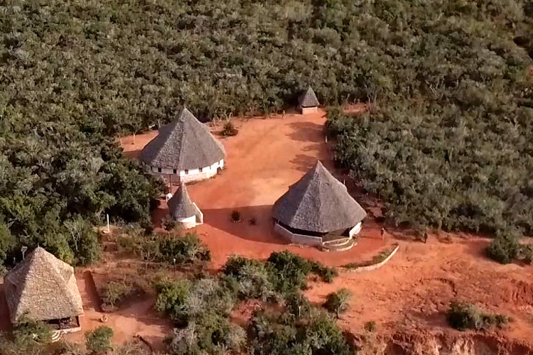 Aerial view of the Boré Community Forest Centre